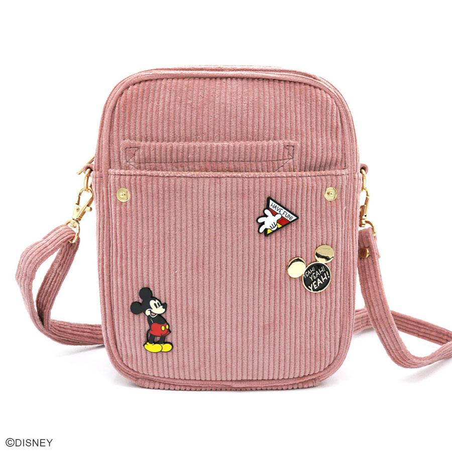 DISNEY COLLECTION ミッキーマウス/コーデュロイピンズショルダー
